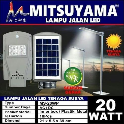 Lampu Jalan Tenaga Surya Sensor Gerak MS 20watt
