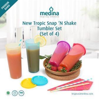 New Tropic Snap N Shake Tumbler Biru Muda