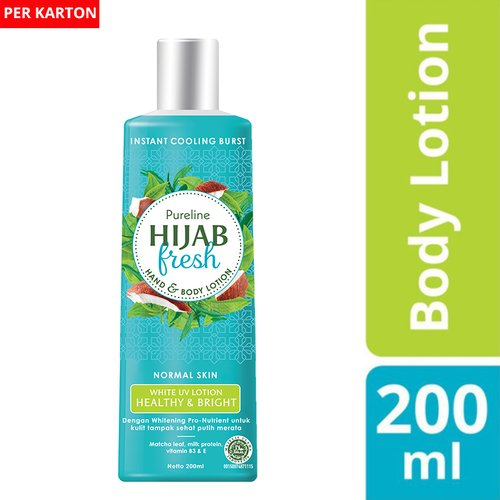 HIJAB FRESH HAND & BODY WHITE UV HEALTHY & BRIGHT 200ML 1karton