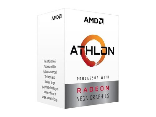 AMD Athlon 200GE 2-Core 4-Thread 3.2 GHz Base Socket AM4 with Vega 3