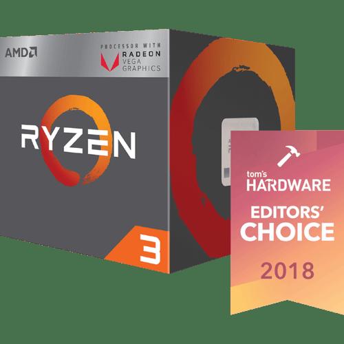 Paket AMD Ryzen 3 2200G + ASRock A320M-HDV