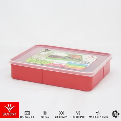 Victory LUNCH BOX Warna Merah