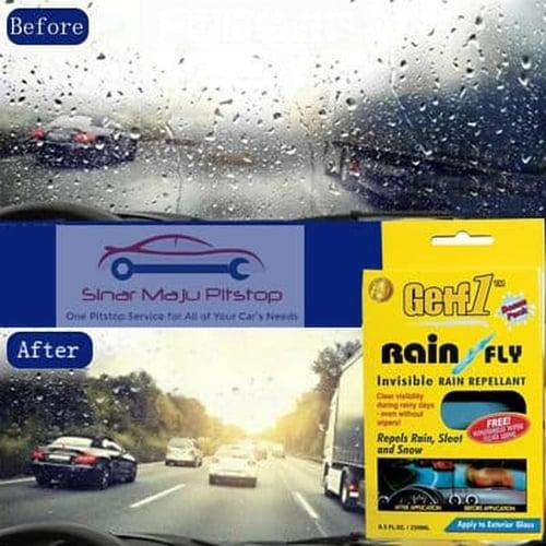 GETF1 RAIN X RAIN FLY 250 Ml & BONUS WINDSHIELD WIPER FLUID 120 Ml - CAIRAN PEMBERSIH KACA MOBIL - MENINGKATKAN JARAK PANDANG BERKENDARA ORIGINAL MADE IN MALAYSIA