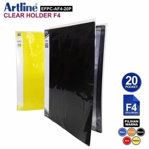 ARTLINE Clear Holder Folio EFPC AF4 20P 20 Lbr Hitam