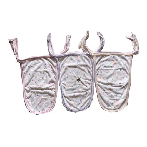mega popok kain bayi newborn putih isi 6pcs