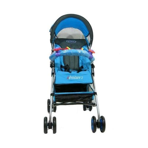 PLIKO Stroller Baby Adventure 108 Biru Muda