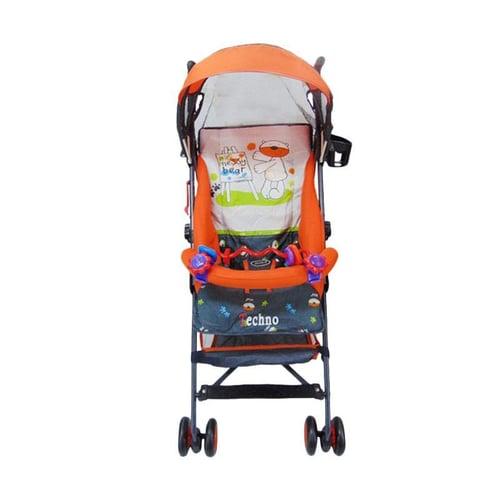 PLIKO Stroller Techno orange