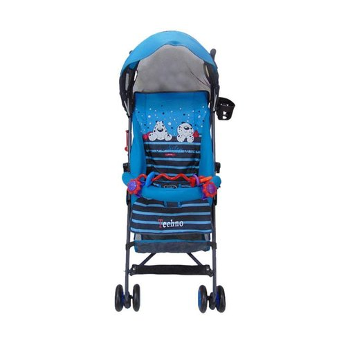 PLIKO Stroller Techno biru muda
