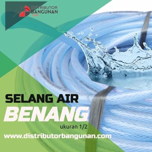 Selang Air Benang Elastis Tebal Serat Untuk Kran Keran 1/2 Inch /Meter