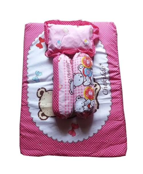 Chekiddo baby wear kasur bayi - Pink