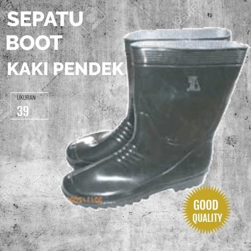 Sepatu Boot Karet Proyek Anti Air Slip Hitam KK Pdk Uk 39