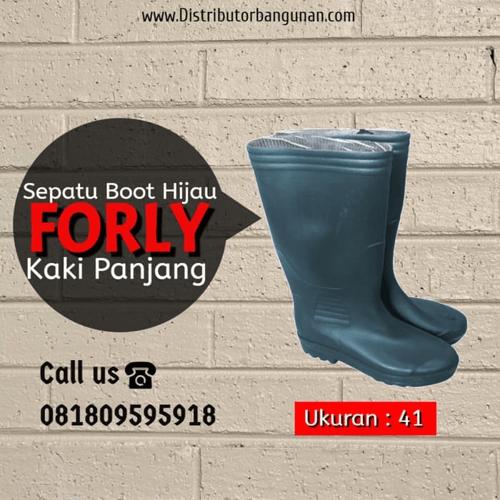 Sepatu Boot KK Pjg uk 41 Hijau FORLY