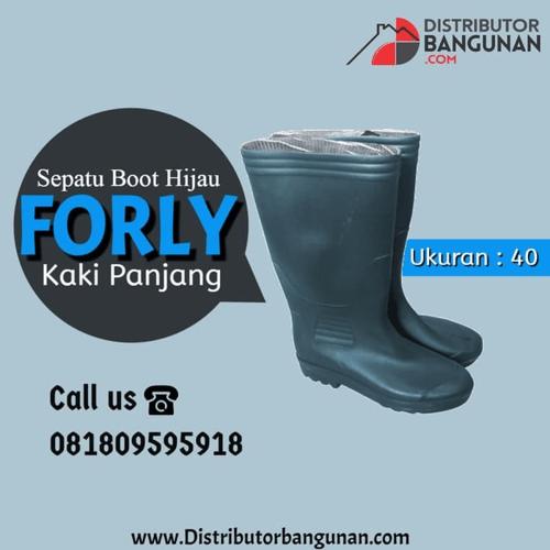 Sepatu Boot KK Pjg uk 40 HijauFORLY