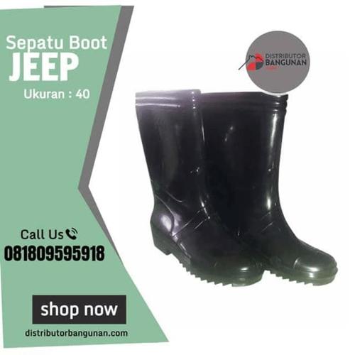 Sepatu Boot Jeep Hitam Ukuran 40