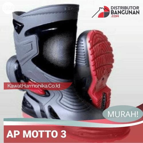 Sepatu Boot AP MOTO 3 Merah Hitam