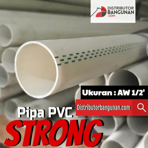 Pipa Pvc Pipa Paralon Resin Murni Strong 1/2 Type AW