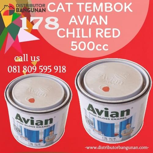 CAT TEMBOK AVIAN CHILI RED 500CC 178