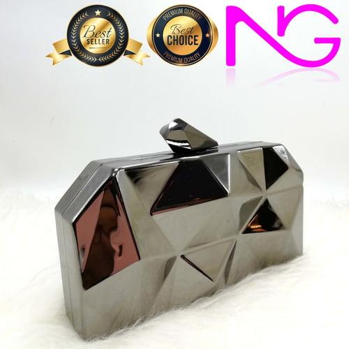 Tas Pesta Import Handbag Clutch Black G486