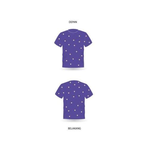 Kaos Sablon Tokoin dengan Pattern Bahan Premium