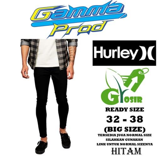Celana Soft Jeans HURLEY SLIM FIT PRIA GROSIR BIG SIZE