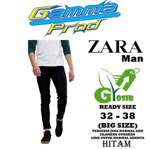 Celana Soft Jeans ZARA MAN SLIM FIT PRIA GROSIR BIG SIZE
