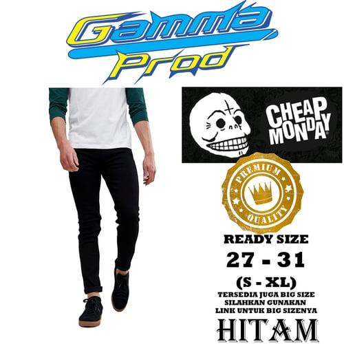 Celana Soft Jeans CHEAP MONDAY SLIM FIT PRIA PREMIUM Zipper YKK