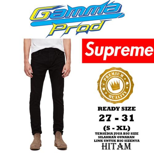 Celana Soft Jeans SUPREME SLIM FIT PRIA PREMIUM Zipper YKK