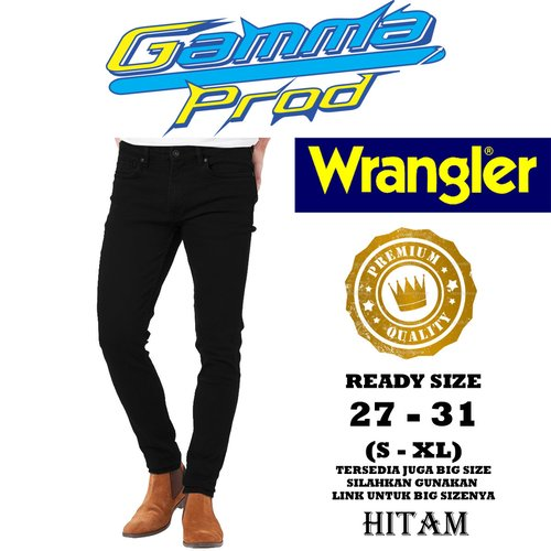 Celana Soft Jeans WRANGLER SLIM FIT PRIA PREMIUM Zipper YKK