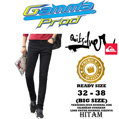 Celana Soft Jeans QUIKSILVER SLIM FIT PRIA PREMIUM Zipper YKK BIG SIZE