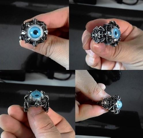 Cincin Skull Evil Eye Stainless Steel.