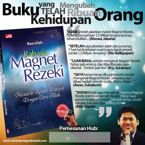Buku Rahasia Magnet Rezeki penulis Ust Nasrullah