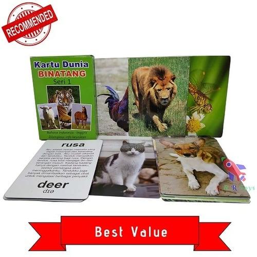 Flashcard Bayi Pintar Kartu Dunia Binatang Seri 1 Edukasi Anak