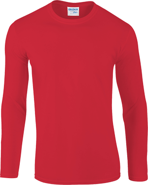 76400 Gildan Long Sleeve Merah  L