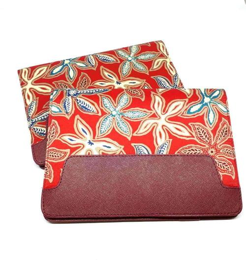 Agenda Batik A5 Merah Bunga