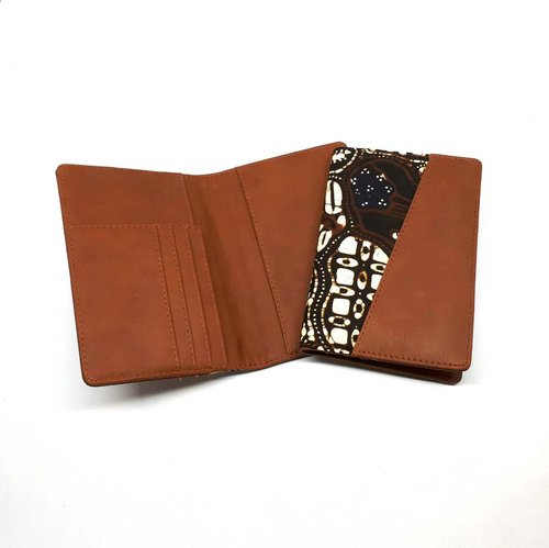 Dompet Passport/Passport Cover Batik Sogan Klasik