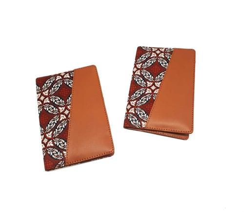 Dompet Passport/Passpor Cover Motif Kawung