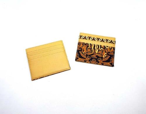 Dompet Kartu Batik Motif Daun Coklat
