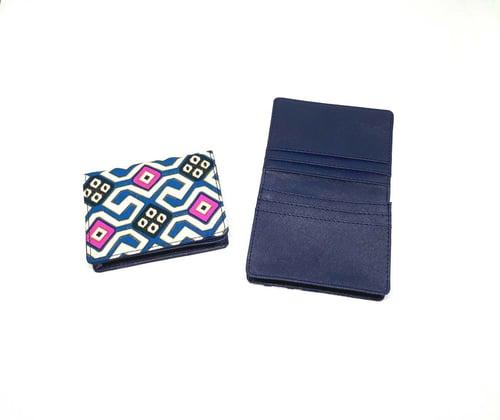 Dompet Kartu Lipat Batuk Toraja Biru Nepy