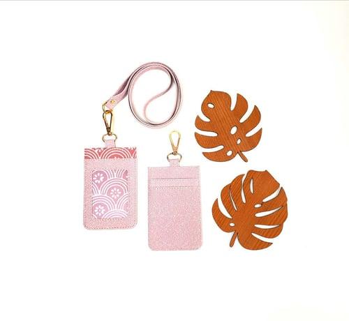 Nametag/ID Card/Lanyard Pink Sakura