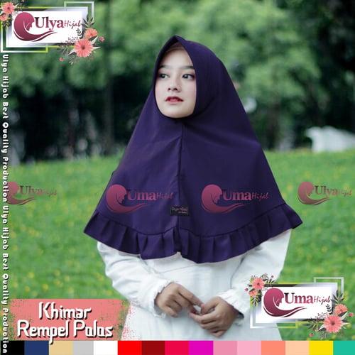 Ulya Hijab Premium Quality Jilbab Hijab Khimar Instan Rempel Polos Mad Wolfis