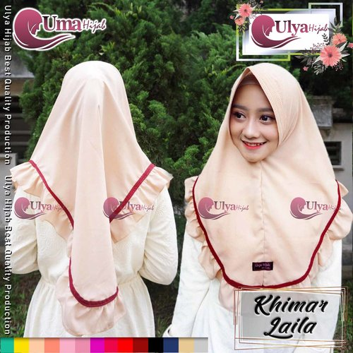 Ulya Hijab Premium Quality Jilbab Hijab Khimar Instan Laila Mad Wolfis