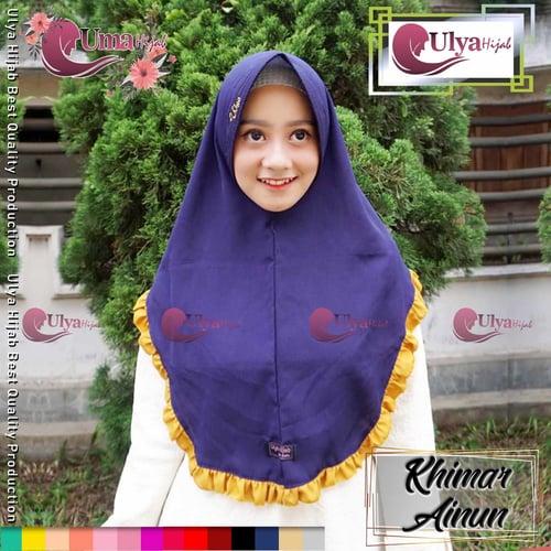 Ulya Hijab Premium Quality Jilbab Hijab Khimar Instan Ainun Mad Wolfis