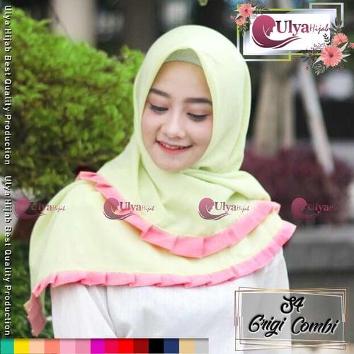 Ulya Hijab Premium Quality Jilbab Hijab S4 Segi Empat Grigi Combinasi Warna Mad Katun