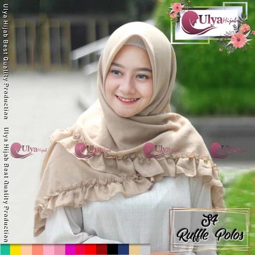 Ulya Hijab Premium Quality Jilbab Hijab S4 Segi Empat Ruffle Kriwil Mad Katun