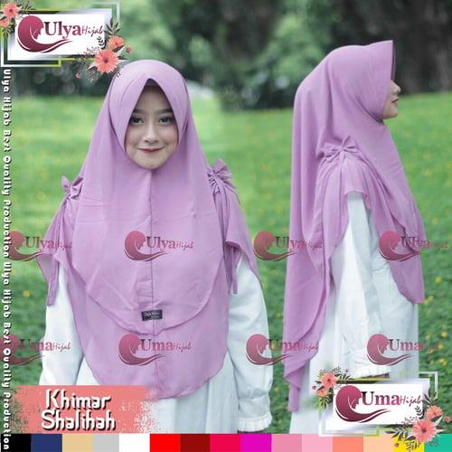 Ulya Hijab Premium Quality Jilbab Hijab Khimar Instan Sholihah Mad Ceruty
