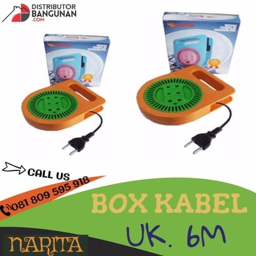 Box Kabel 3 Lubang Dengan Kabel 6 Meter NARITA