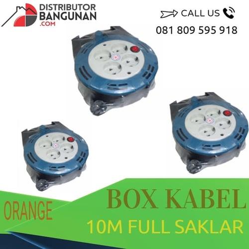 Box Kabel 4 lubang Dengan Dilengkapi Kabel 10 Meter ORANGE