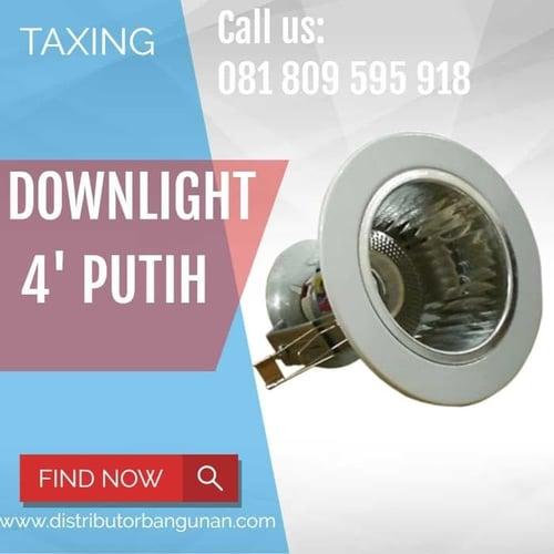 Sarang Rumah Lampu Fitting Fiting Downlight E27 Plafon Dinding 4 Inchi