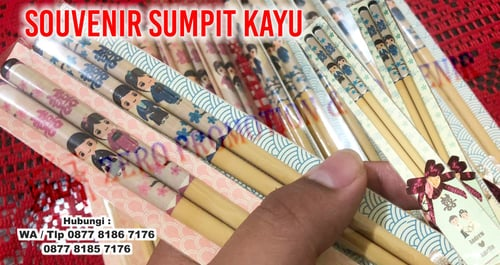 Promosi Sumpit Kayu Custom Termurah dan Tercepat - Souvenir Sumpit Kayu