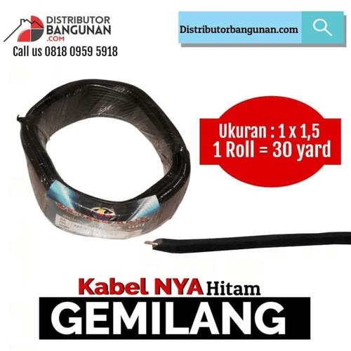 Kabel Listrik NYA GEMILANG - 1x1,5 Harga /Meter